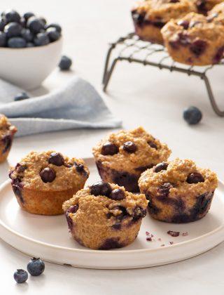 5 Ingredient Blueberry Protein Muffins