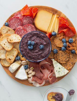 Charcuterie Board with Blueberry Almond Butter