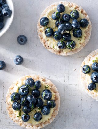 Blueberry Lemon Ricotta Rice Cakes