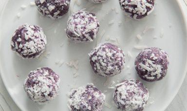 No-Bake Blueberry Coconut Energy Balls