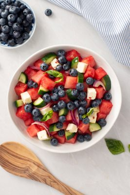 Blueberry Watermelon Salad with Marinated Feta