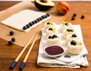 Blueberry Fruit Sushi