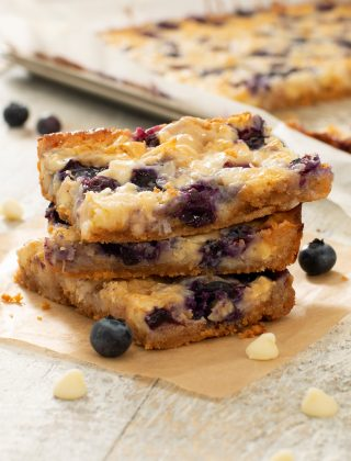 Blueberry and White Chocolate Dream Bars