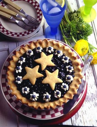 Double Blueberry Cookie Pie