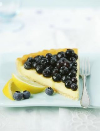Lemony Blueberry Cheese Tart