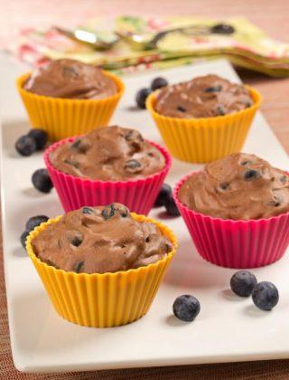 Blueberry-Chocolate Mousse Tarts