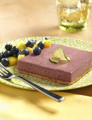 Frozen Blueberry-Lime Squares