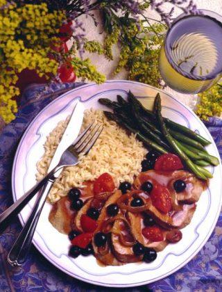 Blueberry-Onion Sauced Pork Tenderloin