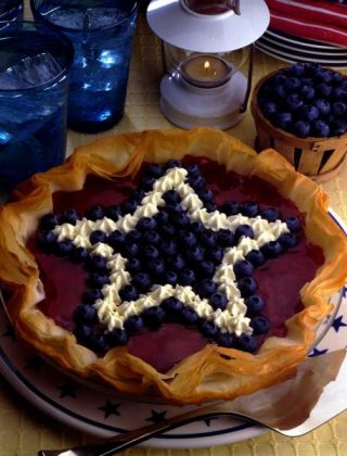 Red, White and Blueberry Cheesecake