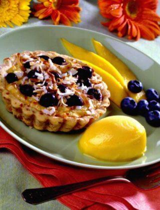 Blueberry Coconut Tartlets