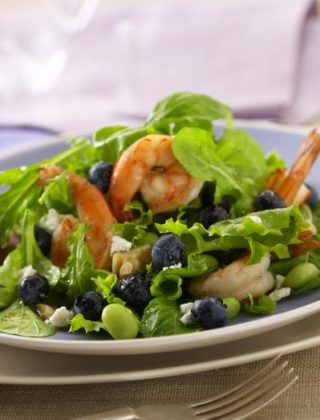 Blueberry Shrimp Salad with Lemon Vinaigrette