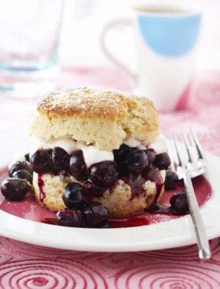 Blueberries and Cream Shortcake