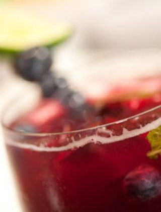 Blueberry And Mint Spritzer