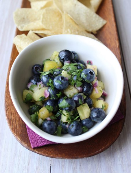 Tropical Blueberry Salsa