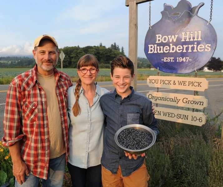 Susan and family from Bow Hill Blueberries