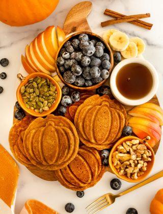 Pumpkin Blueberry Pancake Board