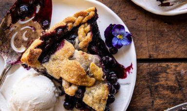 Blueberry Lavender Pie