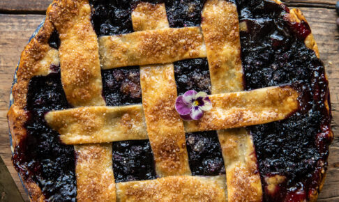 ginger n spice bubbling blueberry pie