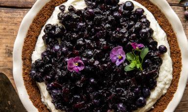 honey roasted blueberry and marshmallow cream pie