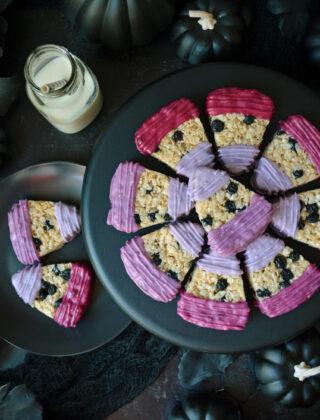 Blueberry Candy Corn Treats